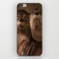 otters iPhone & iPod Skins featuring River Otters by Joshua Arlington