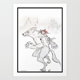 The Half-Blood: Lycanthropy 2 Art Print