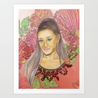 ariana grande Art Prints featuring Ariana II by Share_Shop