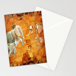 Marcel to elephant's graveyard Stationery Cards
