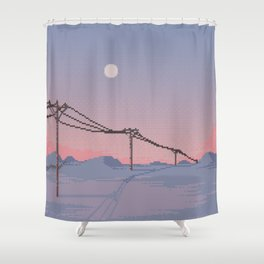 The Frigid Field Shower Curtain