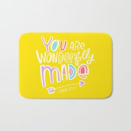 You are Wonderfully Made Bath Mat