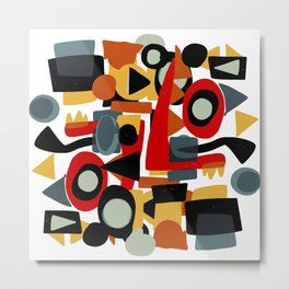 Formes amusantes Abstract Pattern Art Metal Print