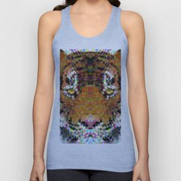 Tiger Triangle Mandala Unisex Tank Top