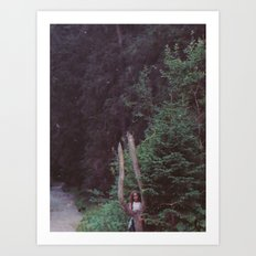 GIRL AND THE TREE Art Print