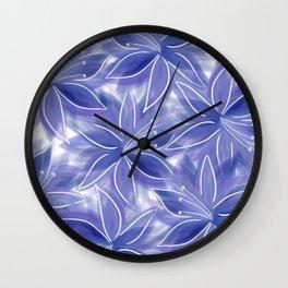 Petals like Silk Wall Clock