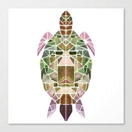 green mosaic turtle Canvas Print