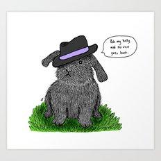 Mafia Rabbit Art Print
