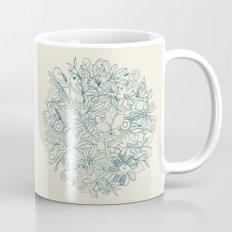 Denim flower circle Mug