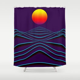 sunset path Shower Curtain