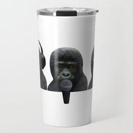 3 Wise Music Monkeys Travel Mug