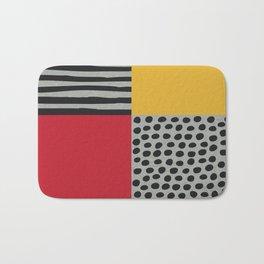 Earth Tone, Red Orange Pattern, Scandinavian Design Bath Mat
