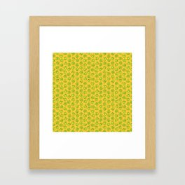 Botanken's Pattern Dream: Yellow. Framed Art Print