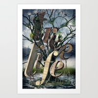 tree of life Art Prints featuring Tree Life by LOOSE GERMS