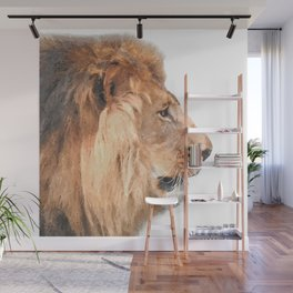 Lion Profile Wall Mural
