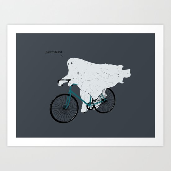 Negative Ghostrider G Art Print