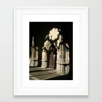 religious Framed Art Prints featuring Religious shadows by Art de L'aube