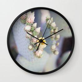 Yellow Desert Blooms Wall Clock