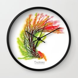 Tillandsia Funckiana Air Plant Watercolors Wall Clock