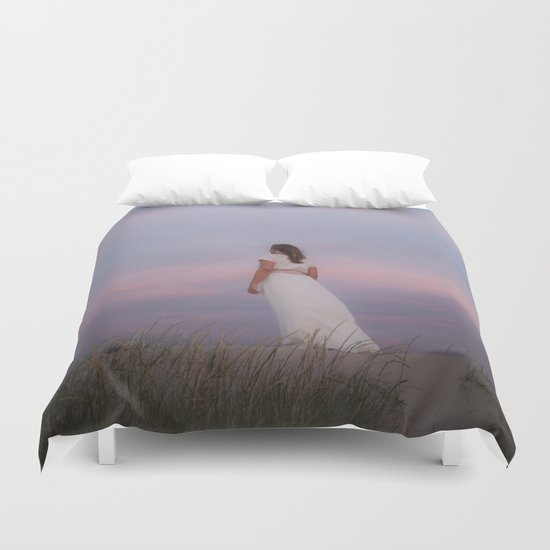 Sunset in the dunes Duvet Cover