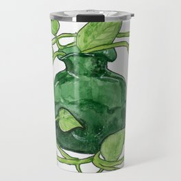 Blenko Glass & Plant Travel Mug