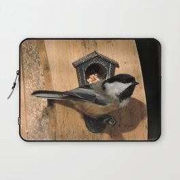 Black-Capped Chickadee at the Feeder Laptop Sleeve