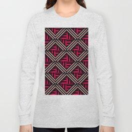 Op art rhombuses on fire Long Sleeve T-shirt