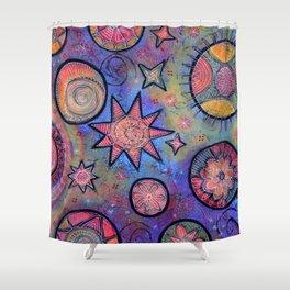 Celestial Stars - Sending Love and Healing Light  Shower Curtain
