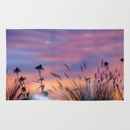 LOOK OUTSIDE - Flowers & Sunset #1 #art #society6 Rug