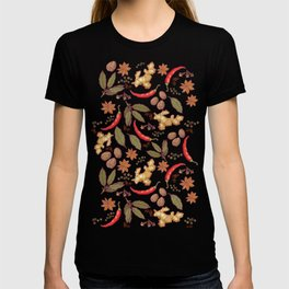 Spices pattern. T-shirt