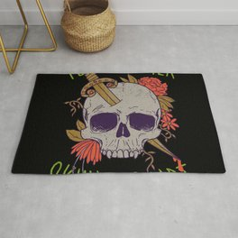 Yet Another Skull Shirt Rug