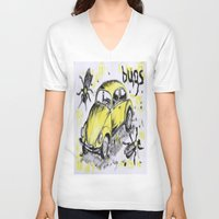 bugs V-neck T-shirts featuring bugs by sladja