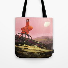 Orange Explorer Tote Bag