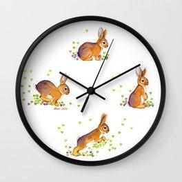 Running rabbit ! Wall Clock