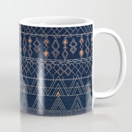 Blue Farmhouse Antique Traditional Moroccan Style Artwork Coffee Mug