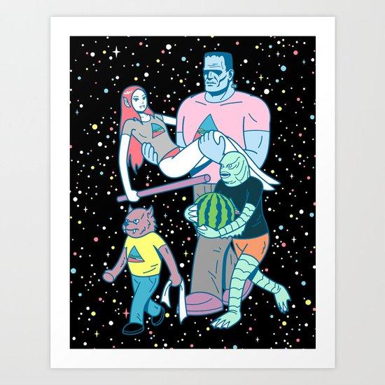 Midnight Parade Art Print
