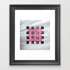 SQUARE AMBIENCE - White Satin Framed Art Print