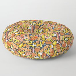 Ode to the Dutch Snacks by Veronique de Jong Floor Pillow