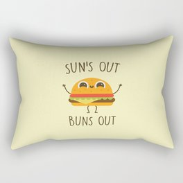 Sun's Out, Buns Out, Funny, Cute, Quote Rectangular Pillow