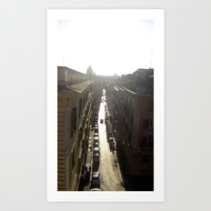 Streets of Rome Art Print