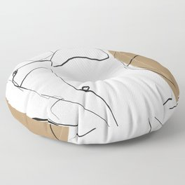 abstract nude 2 Floor Pillow