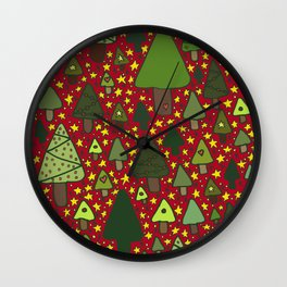 Small Trees Wall Clock