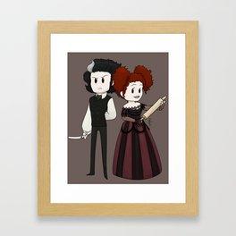Sweeney Todd & Mrs. Lovett Framed Art Print