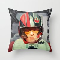 rebel Throw Pillows featuring Rebel by Rabassa