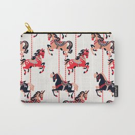 Carousel Horses – Red & Black Palette Carry-All Pouch