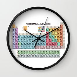 Periodic Table Of Music Genres Wall Clock