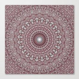 Light Pink Floral Mandala Canvas Print