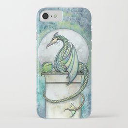Green Dragon Fantasy Art Illustration iPhone Case