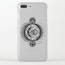 Sun Moon and Stars Clear iPhone Case