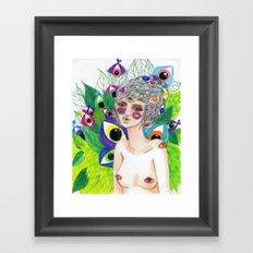 She Sees In All Directions Framed Art Print